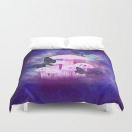Twilight Moths Duvet Cover