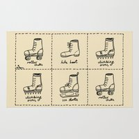 sport Area & Throw Rugs featuring Sport shoes doodles by drakonova