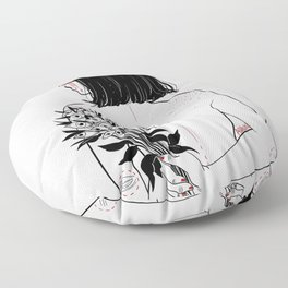 When her petals fall, they hit like bullets. Floor Pillow