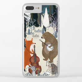 afternoon jazz Clear iPhone Case