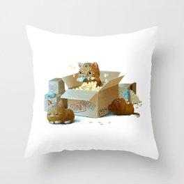 Happy kittens Throw Pillow