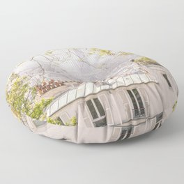 Paris city from Montmartre Floor Pillow
