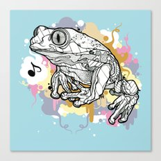 Melodic Frog Canvas Print