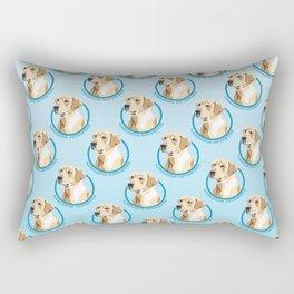 Labrador Retriever Print Rectangular Pillow