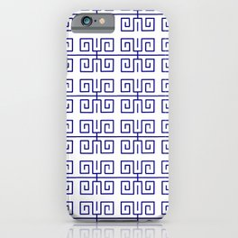 Antic pattern 22- roman or greek pattern - blue iPhone Case