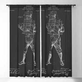 Baseball Catcher Patent 1901 Blackout Curtain