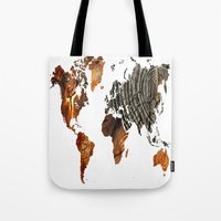 tree rings Tote Bags featuring Tree Rings  by VRose