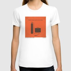 No253 My No Country for Old men minimal movie poster Womens Fitted Tee LARGE White