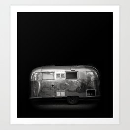 Vintage Airstream Camper Trailer Art Print