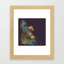 Momiji Pond Framed Art Print