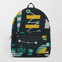 Mid-century carrots, apples and trees Backpack
