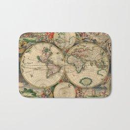 World Map 1689 Bath Mat
