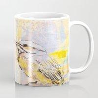 birdy Mugs featuring Birdy by Nett Designs