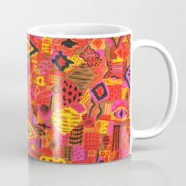 Boho Patchwork in Warm Tones Coffee Mug