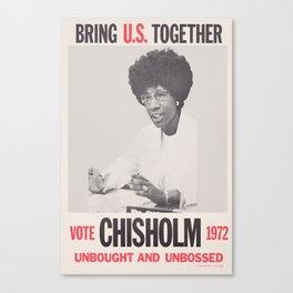 Vote Shirley Chisholm 1972 Canvas Print