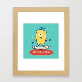 Little baby bear Framed Art Print