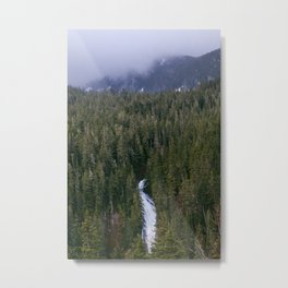 Waterfall in gifford-pinchot national forest, washington Metal Print