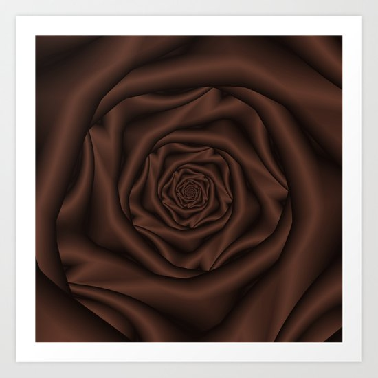 Chocolate Rose Spiral Art Print