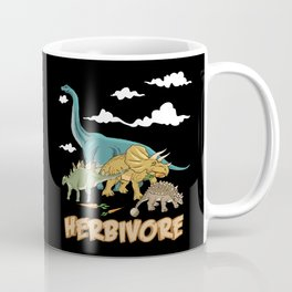 Dino Vegan Vegetarian Herbivore Gift Coffee Mug