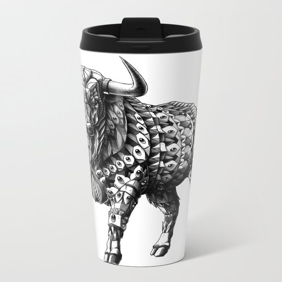 Raging Bull Metal Travel Mug