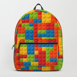 Bricks geometric pattern Backpack