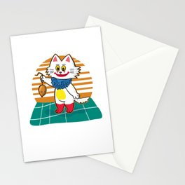 Funny Clown Cat Stationery Cards