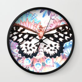 Surreal butterfly Wall Clock