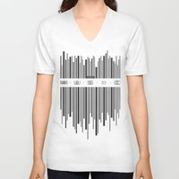 code V-neck T-shirts featuring Music Code by Sitchko Igor