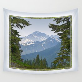 MOUNT LARRABEE FROM HEATHER MEADOWS Wall Tapestry