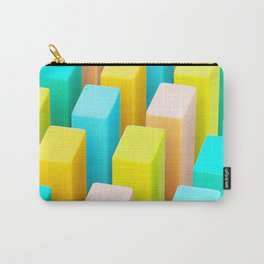 Color Blocking Pastels Carry-All Pouch