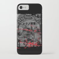 techno iPhone & iPod Cases featuring Techno Cop by Slippytee Clothing