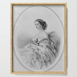 Portrait of the Empress Eugenie, after Winterhalter,19th century Serving Tray