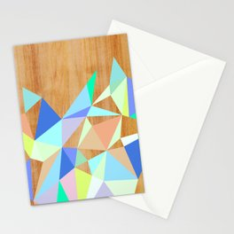 Wooden Geo Aqua Stationery Cards