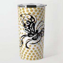 A black butterfly Travel Mug
