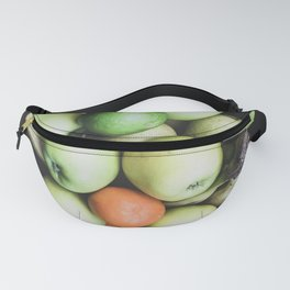 Top view of a bowl of fruit Fanny Pack