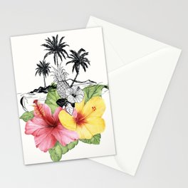 Tropical Island Stationery Cards