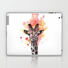 Portrait of a Giraffe Smiling Painting Laptop & iPad Skin