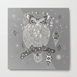 Silver night Metal Print