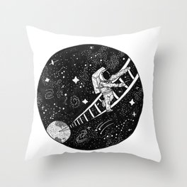 Ladder to the Cosmos Throw Pillow