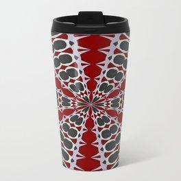 Red Black White Pattern Travel Mug