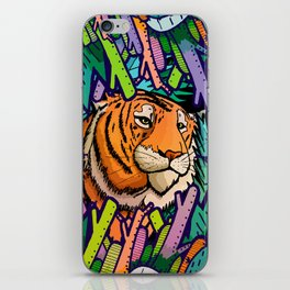 Tiger in the undergrowth iPhone Skin