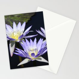 Purple Water Lilies Stationery Cards