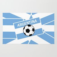 argentina Area & Throw Rugs featuring Argentina Football by mailboxdisco