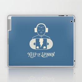 Keep On Spinnin' (Blue) Laptop & iPad Skin