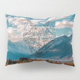 Wolf nature mountain Pillow Sham