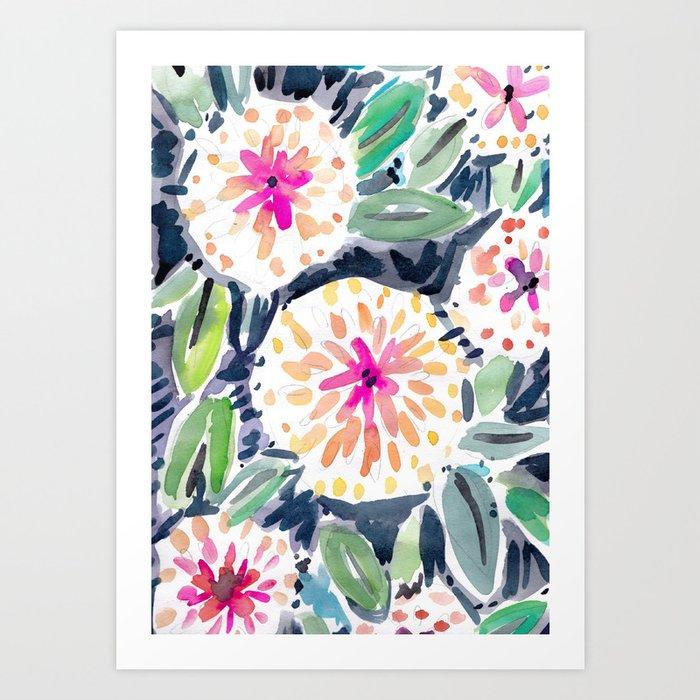 Pop Floral Art Print