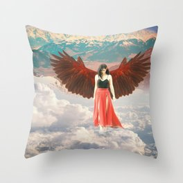 Lady of the Clouds Throw Pillow