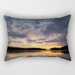 Spring Sunset - beautiful colors and reflections - cloudy sky Rectangular Pillow