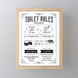 Toilet Rules Framed Mini Art Print