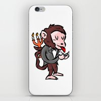 black butler iPhone & iPod Skins featuring monkey butler  mono mayordomo by gran mike